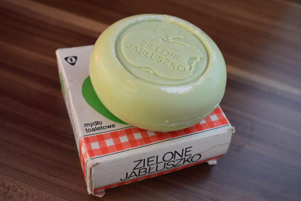 zielone jabłuszczko mydło toaletowe wyborowe PRL
